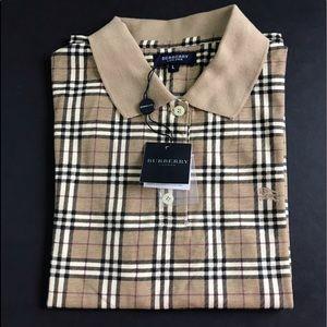 NWT Burberry polo shirt boy L